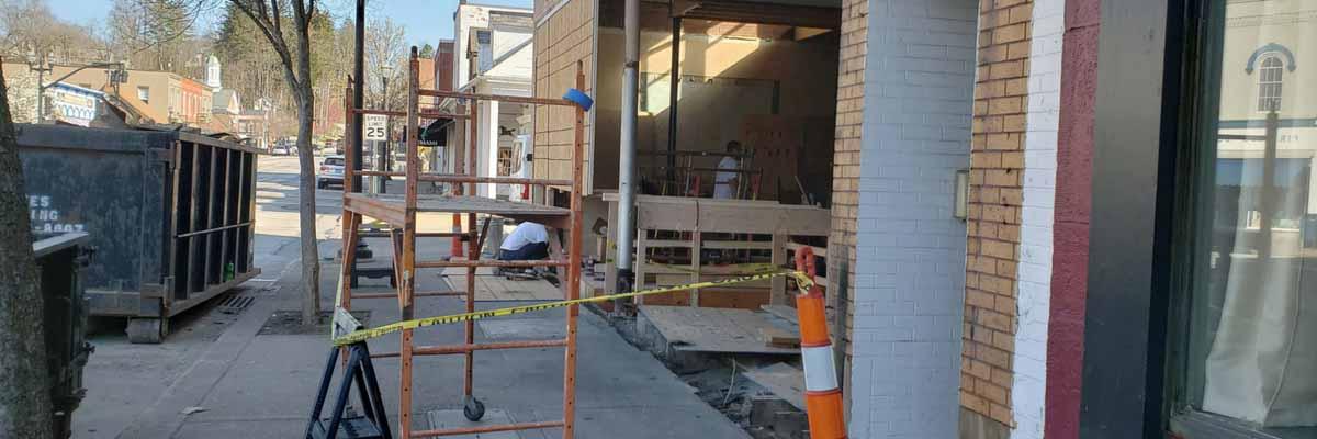 chagrin falls, construction, renovation, restaurant, coming soon
